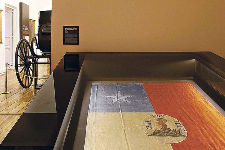 Bandera en Museo Histórico Nacional