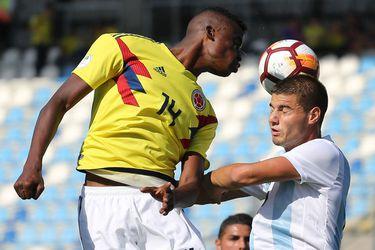 Argentina le gana a Colombia y sube en el Sudamericano Sub 20