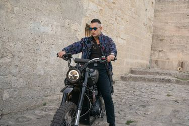 3Triumph Scrambler 1200 XE ridden in No Time To Die by Primo on location in Matera, Italy LR