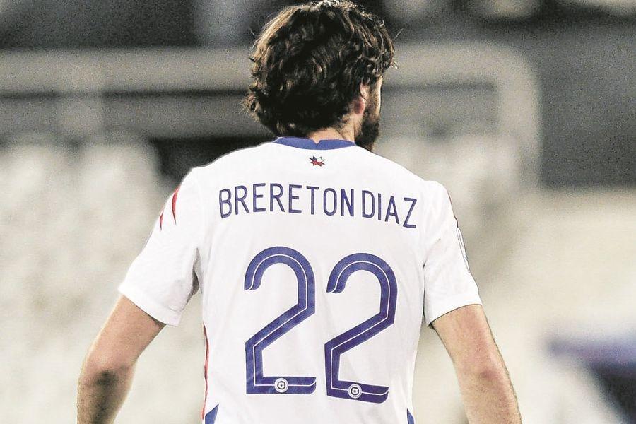 Ben Brereton, durante el partido entre Chile y Brasil, por los cuartos de final de la Copa América 2021. FOTO: Agencia Uno.
