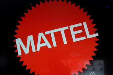 FILE PHOTO - The Mattel company logo is seen at the 114th North American International Toy Fair in New York City