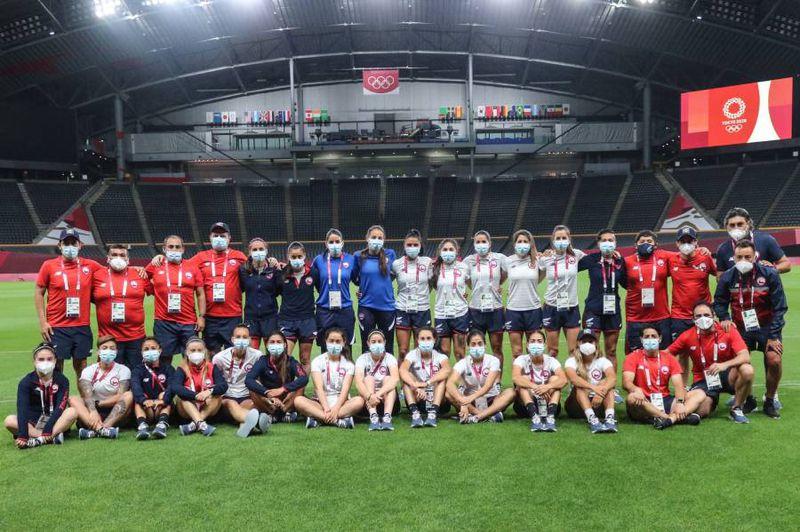 La Selección Chilena Femenina reconoce el Sapporo Dome a horas del estreno ante Gran Bretaña. Foto: @LaRoja.