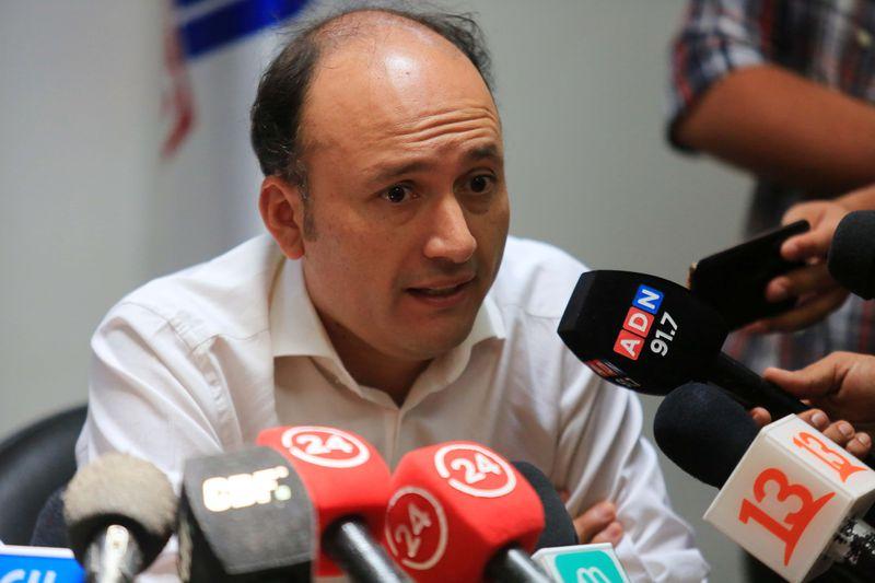 Edmundo Valladares, en una conferencia en el estadio Monumental.