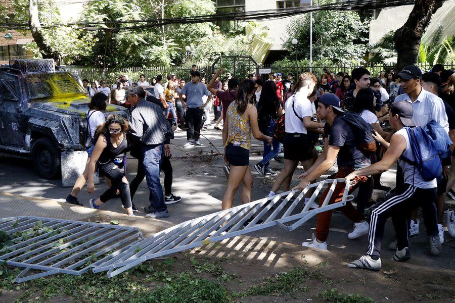 Incidentes en la Universidad San Sebastián de Providencia