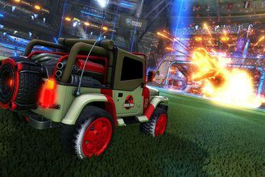 jurassic park jeep rocket league