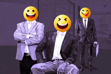 Efecto emoji y sticker: los íconos digitales se posicionan en el entorno laboral