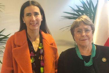 Michelle Bachelet se reúne con Carolina Schmidt para hablar de cambio climático y Derechos Humanos