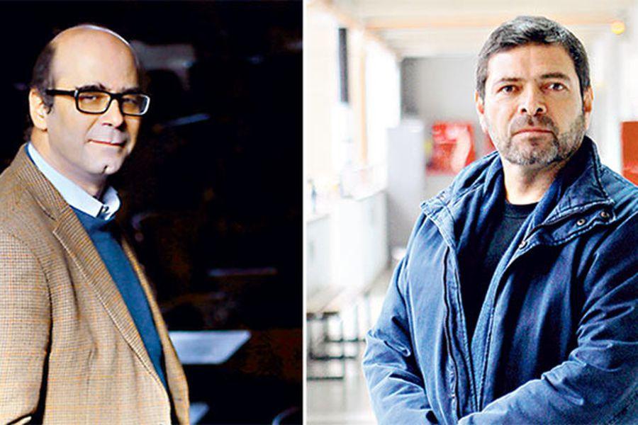 Fernando Atria, militante del Partido Socialista, y Carlos Ruiz, de la Izquierda Autónoma.