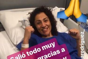 """Crespita Rodríguez tras cirugía por tumor cervical: """"Salió todo muy bien"""""""