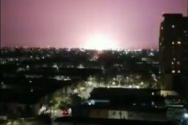 Explosión de transformadores deja sin energía a parte de Renca y es vista desde varios puntos de la capital