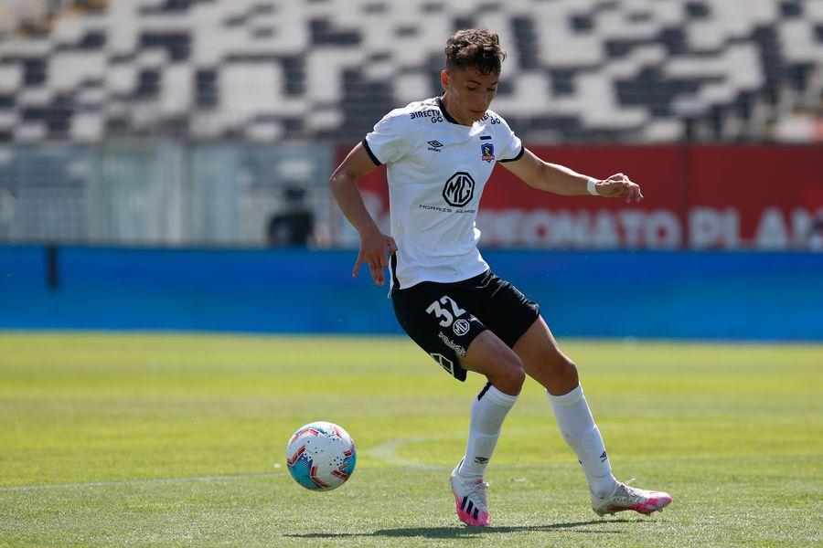 Luciano Arriagada ,durante el partido valido por la Decimoseptima fecha del Campeonato Nacional AFP PlanVital 2020, entre Colo Colo vs Deportes Iquique, disputado en el Estadio Monumental.