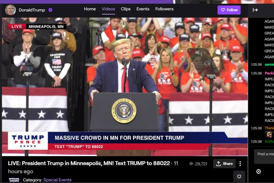 "Twitch baneó temporalmente a Donald Trump por su ""conducta de odio ..."