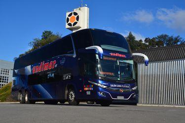 Los primeros buses Marcopolo con tecnología BioSafe ponen rumbo a Chile