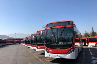 Transportes suma 127 nuevos buses Red para 20 comunas del Gran Santiago