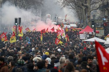 French public services on strike