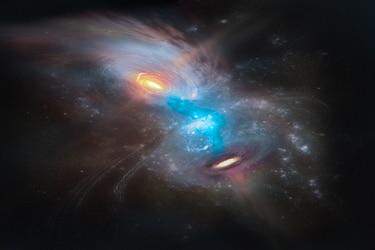 La espectacular imagen del choque de dos galaxias lograda por astrónomos chilenos