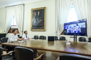 Ministro Ward sostiene videoconferencia con representantes de la comunidad Judía en Chile por avance del coronavirus