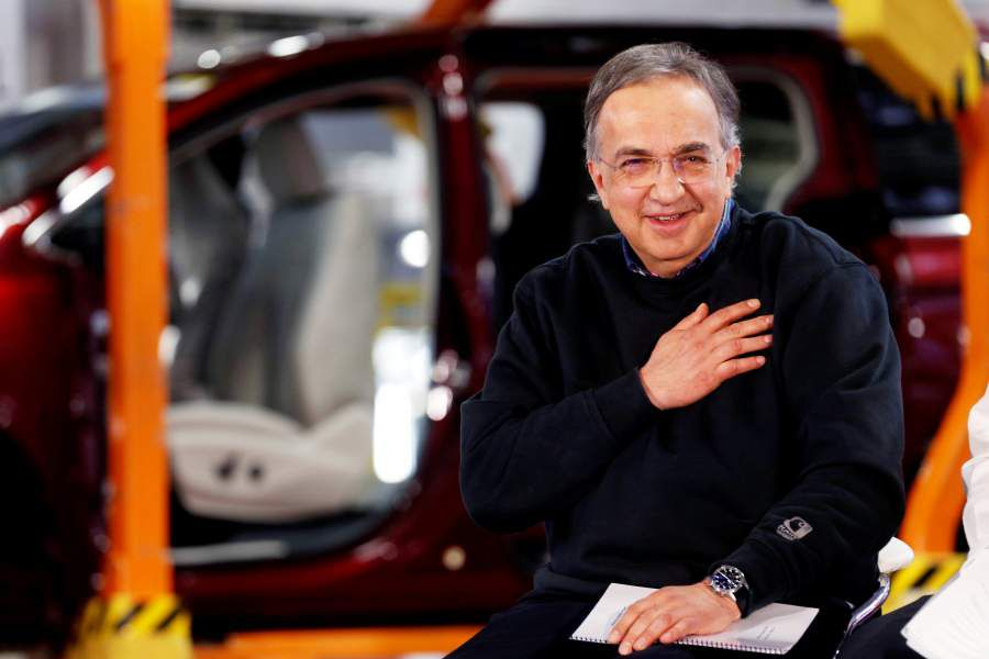 FILE PHOTO: FCA CEO Sergio Marchionne attends the celebration of the production launch of the all-new 2017 Chrysler Pacifica minivan at the FCA Windsor Assembly plant in Windsor