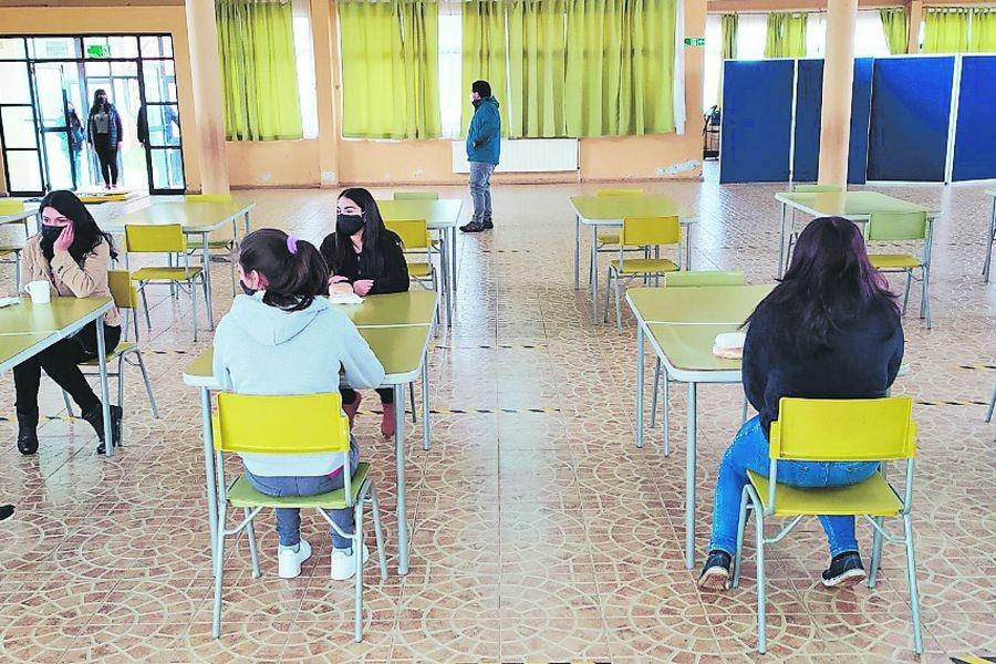 En La Unión, Región de Los Ríos, el Liceo Werner Grob ya retomó las clases presenciales.