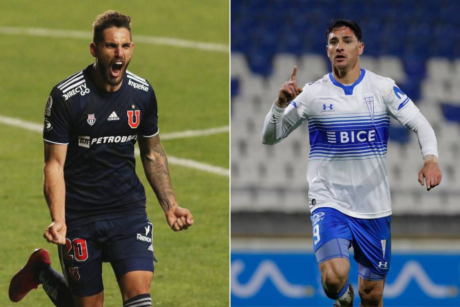 Joaquín Larrivey y Fernando Zampedri, los máximos artilleros del torneo chileno.