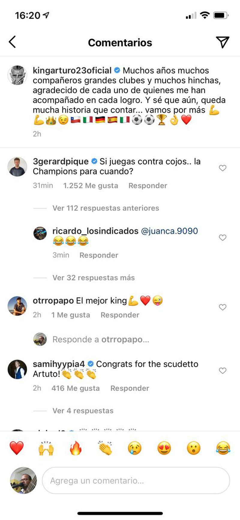El trolleo de Piqué a Vidal.
