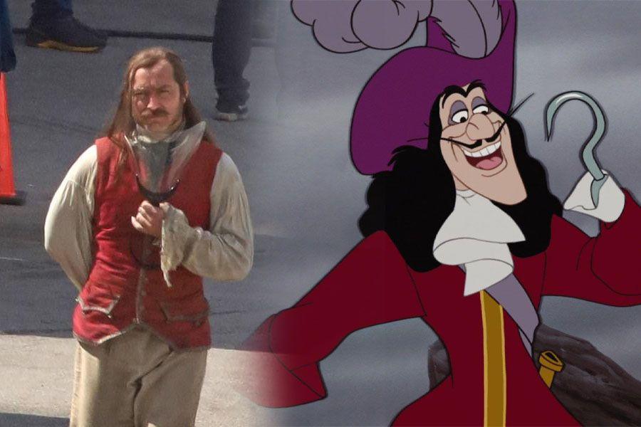 Se filtran fotos de Jude Law como el Capitán Garfio en el set de Peter Pan & Wendy - La Tercera