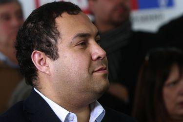 El presidenciable Marco Enríquez-Ominami, ofrece un discurso al Partido Progresista