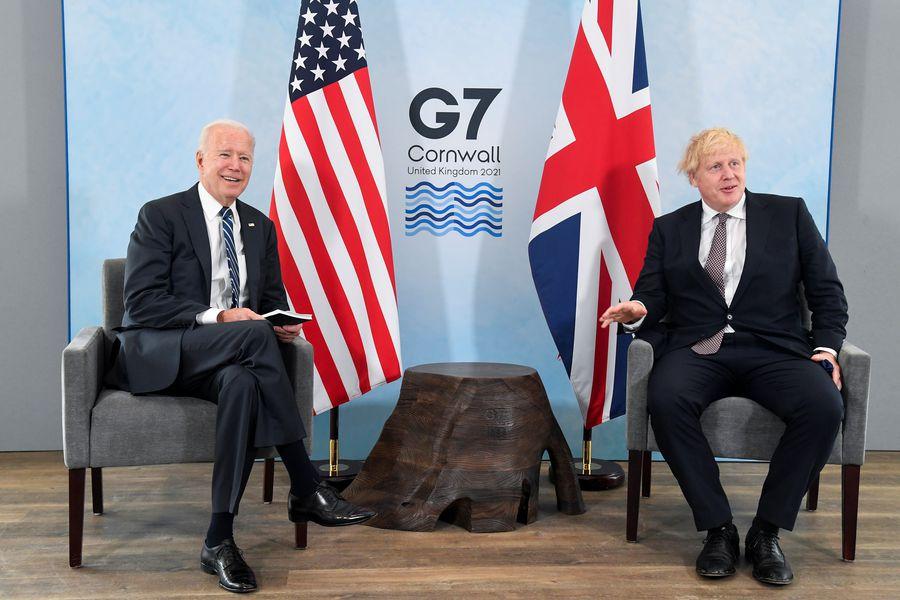 Joe Biden se reúne con Boris Johnson en la antesala del G7 - La Tercera