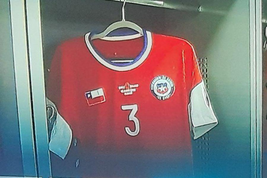 La camiseta de Chile sin logo.