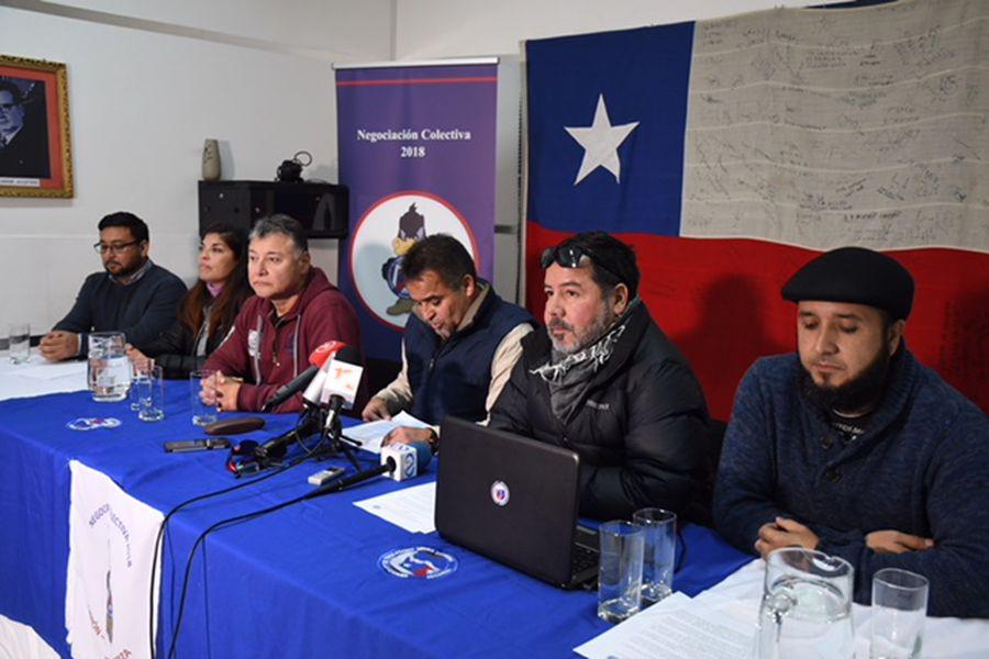 ANTOFAGASTA: Dirigentes de minera La Escondida, se refieren al paro que realizan los trabajadores en la faena