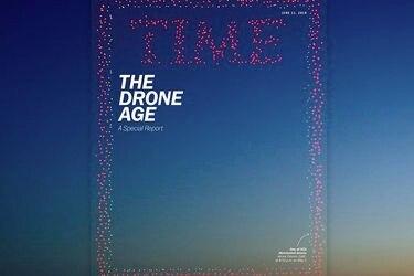 La impresionante portada en el aire de Time formada con casi mil drones