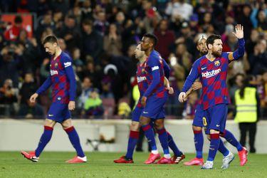 Lionel Messi festeja su gol frente a la Real Sociedad. (Foto: AP).