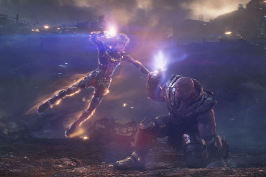 Capitana Marvel vs Thanos