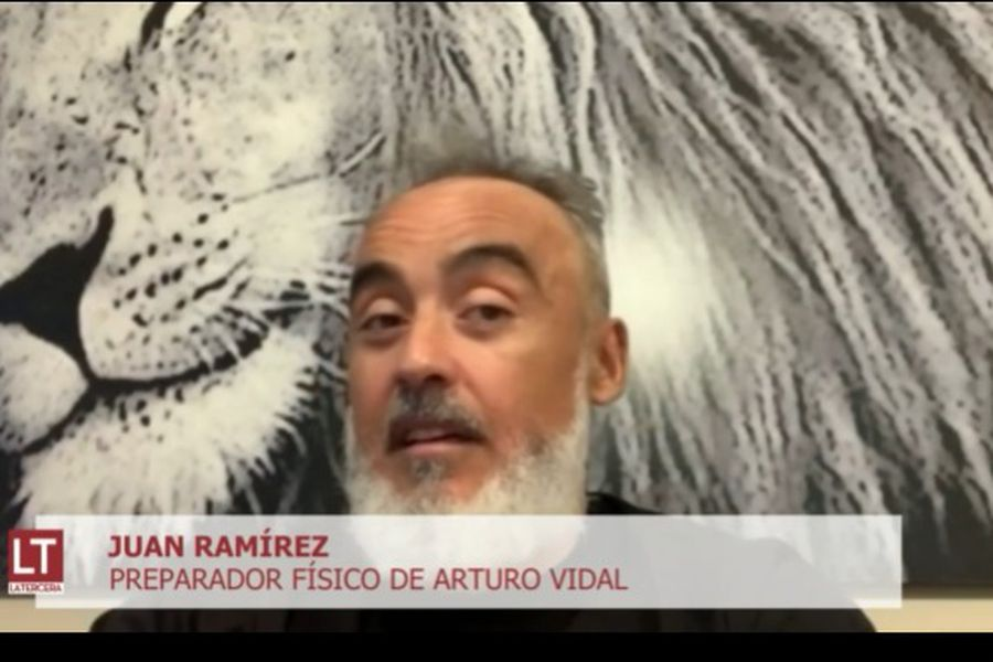 Juan Ramírez, durante su participación en El diván del Kily, de El Deportivo