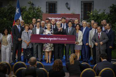 Piñera por promulgación de ley de Modernización Tributaria