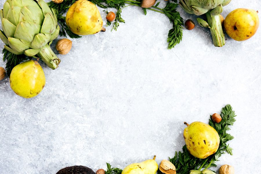 frutas y verduras hielo