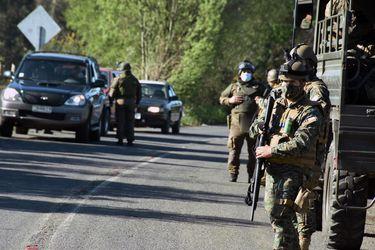 Macrozona Sur: con vigilancia aérea y otros medios logísticos, personal militar realiza patrullajes en provincias bajo estado de excepción