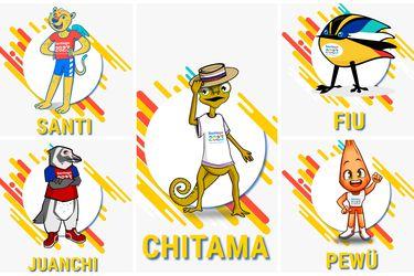 Desde un piñón a un lagarto de Atacama: las cinco mascotas que luchan por ser la figura de Santiago 2023