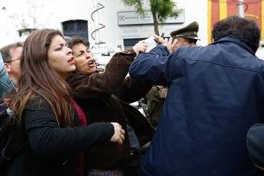 Carolina Toha manifestantes