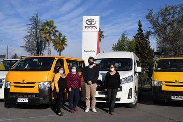Toyota Chile establece alianza de trabajo con transportistas escolares afectados por la pandemia