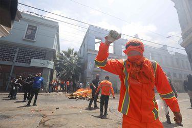 Fiscalía formaliza a grupo de 11 manifestantes por desórdenes en medio de protestas de Valparaíso