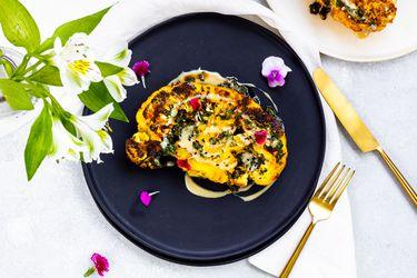Paula Cocina En Casa: Revive el programa por Zoom de Coliflor Grillada con Chimicurri y Tahini