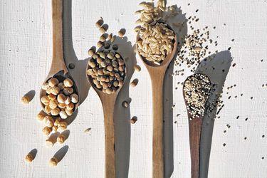 Granos, legumbres y pastas