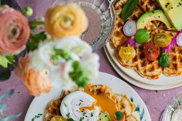 Paula Cocina en vivo: Waffles salados para el desayuno