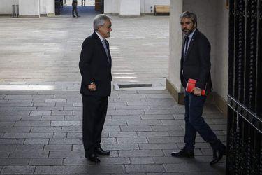 Presidente de la Republica cruza a la oficina del ministro del Interior