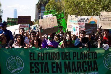 """""""Fridays for Future"""" en Santiago. (Agencia Uno)"""