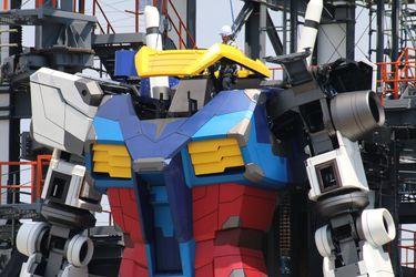 Así está avanzando la construcción de la nueva y gigantesca estatua de Gundam en Japón