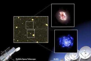 """""""Escondidas en el amanecer del tiempo"""": astrónomo de la U. de Chile participa en descubrimiento de dos nuevas galaxias en los albores del Universo"""
