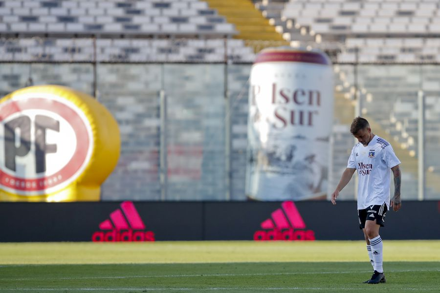 Gabriel Costa, durante el duelo entre Colo Colo y la U, antes de los festejos que complicaron al Cacique. FOTO: Agencia Uno.
