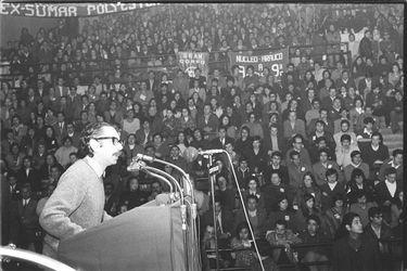 CARLOS ALTAMIRANO ORREGO-SENADOR-PARTIDO SOCIALISTA PS-HABLANDO-DISCURSO-SANTIAGO